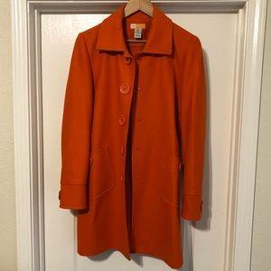 Fun Orange Pea Coat